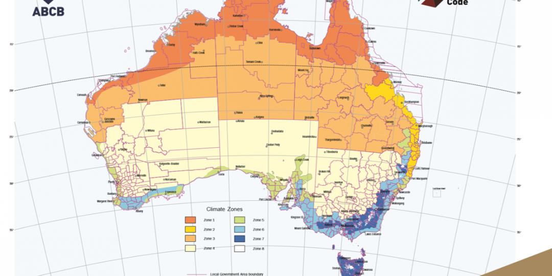 Image of Australia's climate zone map