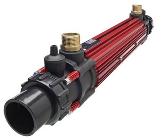 Image of Elecro heat exchanger for heating pools and spas with a hydronic heat pump