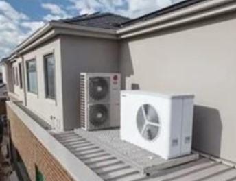 Hydrosol image of roof mounted outdoor units on vibration isolation platform