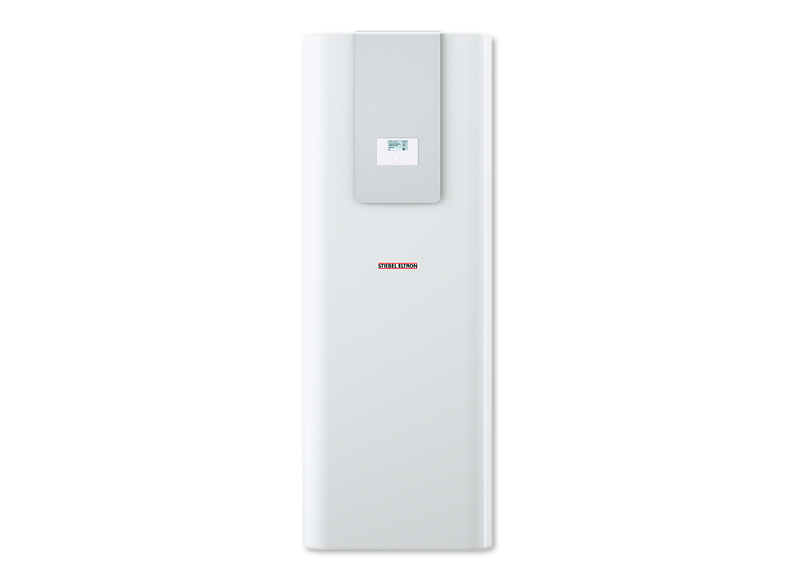 Image of Stiebel Eltron HSBC cabinet for integrating heat pump hot water with hydronic heating and cooling